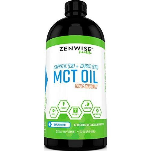 Natural Coconut MCT Oil Supplement Zenwise Health