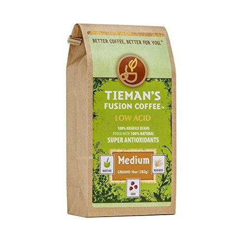 Tieman's Fusion Coffee, Low Acid Medium Roast, Ground