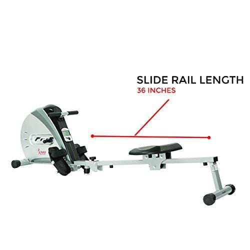 Sunny Health & Fitness SF-RW5606 Elastic Cord Rowing Machine Rower with LCD Monitor Sport & Recreation Sunny Health & Fitness