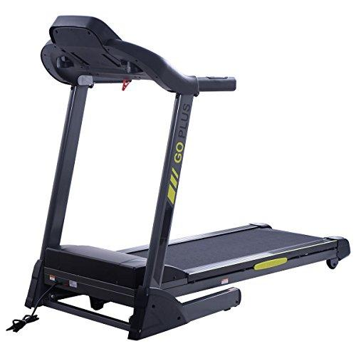 Goplus 2.5HP Folding Treadmill Electric Support Motorized Power Running Fitness Machine (Green) Sport & Recreation Goplus