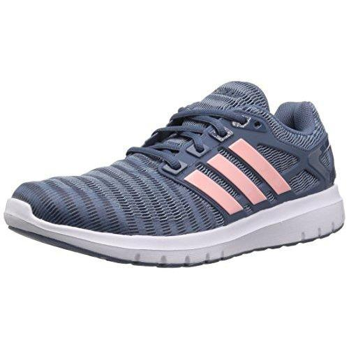 adidas Women's Energy Cloud V Running Shoe, Raw Grey/Clear Orange/Tech Ink, 8.5 M US Shoes for Women adidas