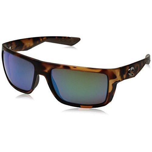 Costa Del Mar Motu Sunglasses, Matte Retro Tortoise, Green Mirror 580 Glass Lens