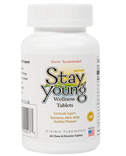 Stay Young AM - 60 Chewable Tablets - Natural Sleep Aid, Plant Powered Booster, Anti-Aging Formula, Regain Youth, Telomeres Support Supplement