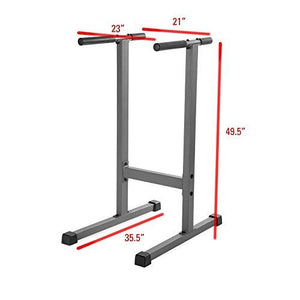 Fitness Dip Station 500 lb. Weight Capacity Uniquely Engineered Angled Uprights Accommodate Men and Women