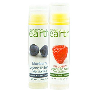 Organic Berry Lip Balm 2 Pack - Blueberry & Raspberry