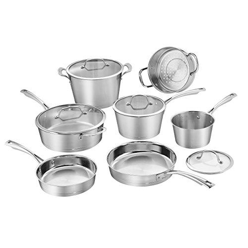 Cuisinart 72I-11 Conical Cookware Set, Medium, Stainless Steel Kitchen & Dining Cuisinart