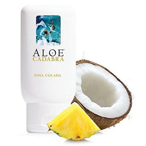 Aloe Cadabra Natural Flavored Personal Lubricant for Oral Sex, Best Organic Edible Lube for Men, Women and Couples, Pina Colada, 2.5 Ounce