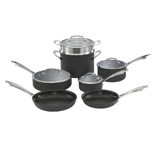Cuisinart DSA-11 Dishwasher Safe Hard-Anodized 11-Piece Cookware Set Kitchen & Dining Cuisinart