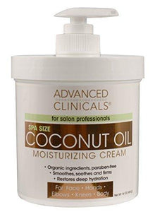 Advanced Clinicals Coconut Moisturizing Cream 16oz by Advanced Clinicals