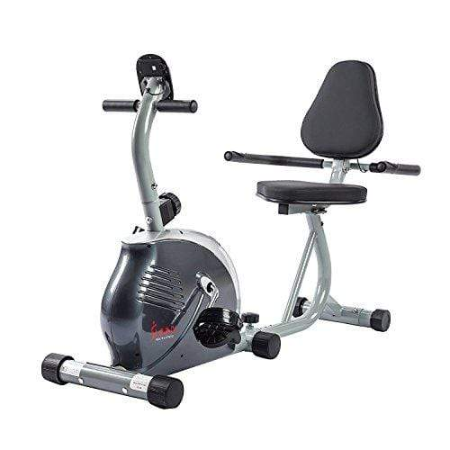Sunny Health & Fitness Magnetic Recumbent Bike Exercise Bike, 265lb Capacity, Monitor, Pulse Rate Monitoring - SF-RB921 Sport & Recreation Sunny Health & Fitness