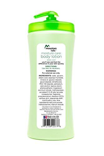 Mountain Falls Moisture Care: Body Lotion, Aloe Cool, Pump Bottle, Compare to Vaseline, 24.5 Fluid Ounce (Pack of 4)