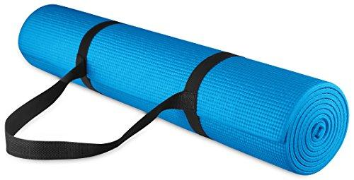 GoYoga All Purpose High Density Non-Slip Exercise Yoga Mat