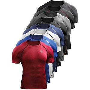 Neleus Men's Compression Baselayer Athletic Workout T Shirts 1 Or 3 Pack
