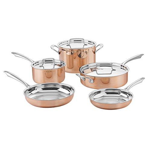 Cuisinart CTPP-8 Collection Cookware Set, Medium, Copper Kitchen & Dining Cuisinart