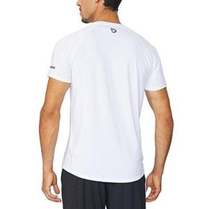 Baleaf Men's Quick Dry Short Sleeve T-Shirt Running Fitness Shirts White Size L