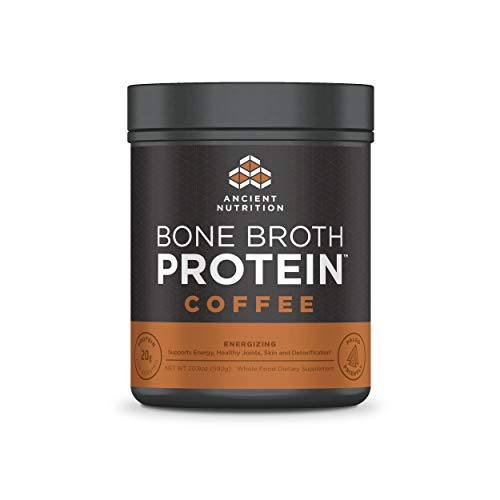 Ancient Nutrition Bone Broth Protein Powder, 20g Protein Per Serving, Paleo, Low Carb Superfood, Coffee, 20.9 oz