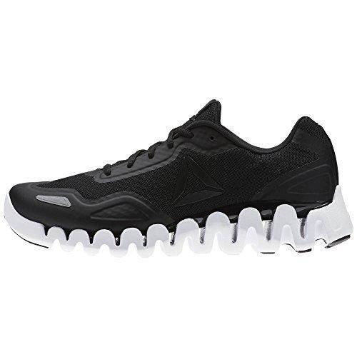 Reebok Mens Zigpulse Running Shoe (10 D(M) US, BLACK/WHITE) Shoes for Men Reebok