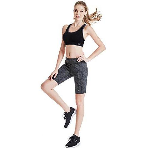 FITTIN Women's Active Fitness Pocket Sports Shorts - Yoga Running Activewear Workout Gym Running Leggings 3-Pack XL Activewear FITTIN