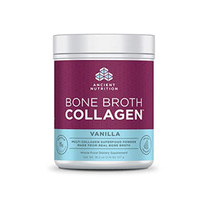 Ancient Nutrition Bone Broth Collagen Powder 30 Servings of All-Natural Protein Powder Loaded with Bone Broth Co-Factors (Vanilla, 30 Servings)