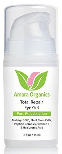 Amara Organics Eye Cream Gel for Dark Circles and Puffiness with Peptides.5 fl. oz.