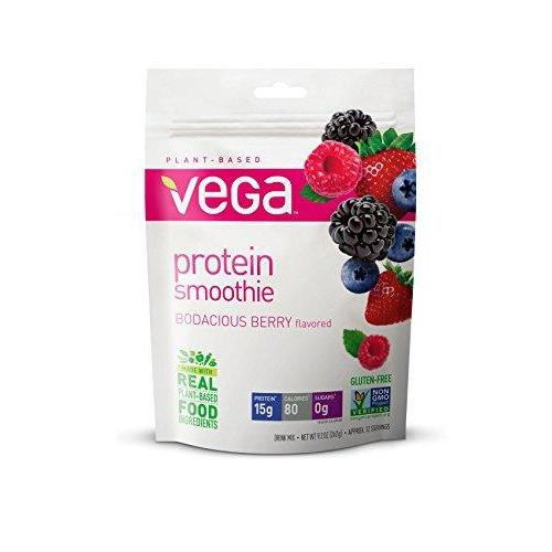 Protein Smoothie, Bodacious Berry, 12 Servings Supplement Vega