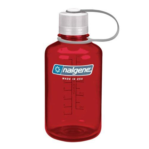 Nalgene Tritan 1 Pint Narrow Mouth BPA-Free Water Bottle, Outdoor Red Sport & Recreation Nalgene