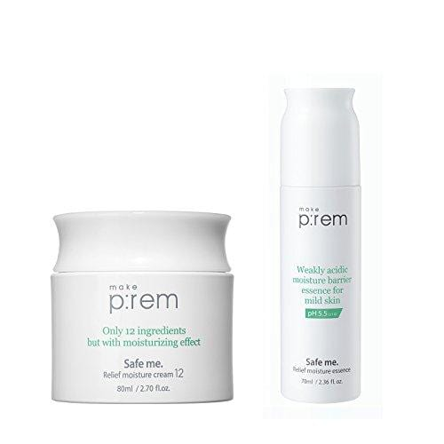 [MAKE P:REM] Safe me. Relief Moisture set (Cream 12 + Essence). Made in Korea