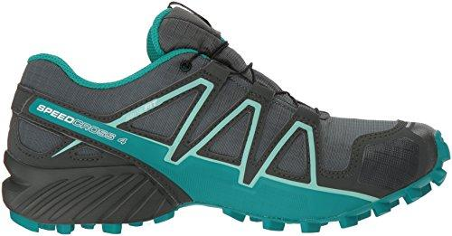 Salomon Women's Speedcross 4 GTX W Trail Running Shoe, Balsam Tropical Green/Beach Glass, 8 B US