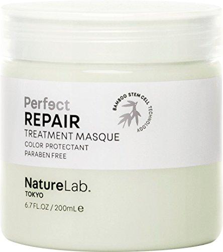 NatureLab. Tokyo – Perfect Repair Treatment Masque with Bamboo Stem Cells, restores damaged, chemically treated hair. 6.7 fl oz with pump. Natural. Free of sulfates and animal cruelty. Protects Color