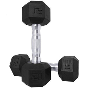 CAP Barbell SDPP-016 Color Coated Hex Dumbbell, Black, 8 pound, Pair