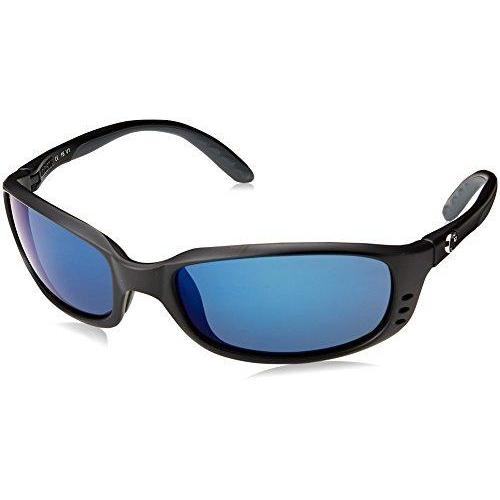 Costa Del Mar Brine Sunglasses BR 11 OBMP Matte Black/Blue Mirror 580Plastic