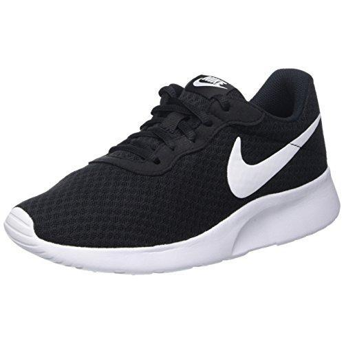 Nike Womens Tanjun Running Sneaker Black/White 7.5 Shoes for Women NIKE