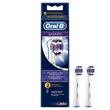 Oral-B Braun 3D White Electric Toothbrush Replacement Head - 2 Refill Brushes