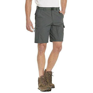 Baleaf Men's Quick Dry UPF 50+ Casual Cargo Camo Shorts Deep Gray 36W