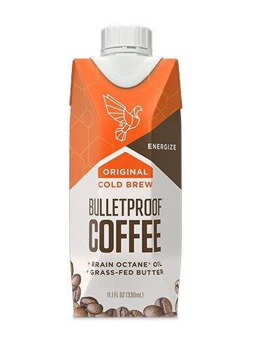 Bulletproof Coffee Cold Brew Ready To Drink- Ketogenic Diet, Sugar-Free, Includes Grass-Fed Butter and Brain Octane Oil, Original (12 Pack)