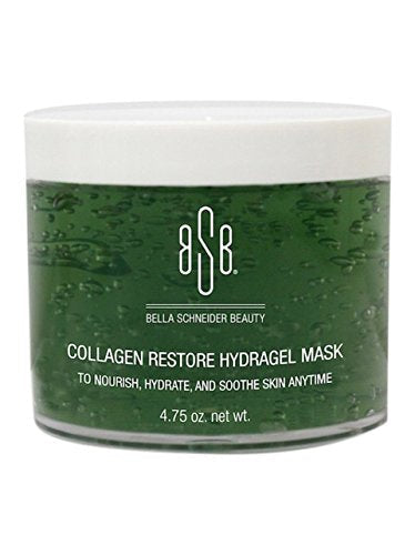 Bella Schneider Beauty Collagen Restore Hydragel Mask, Skin Soothing, Hydrating Mask, Hydrogel Mask, Anti-Wrinkle Mask, Collagen Mask, Redness Reducing Moisturizer, Skin Repair, Nourishing Face Mask