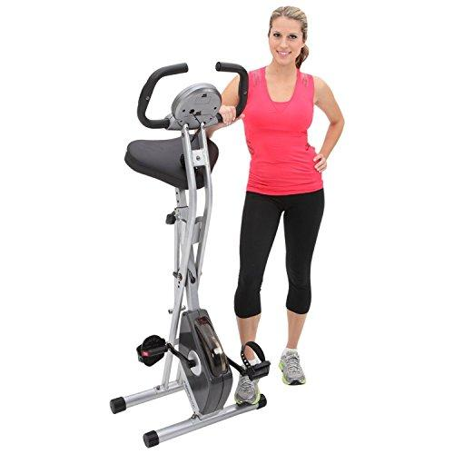 Exerpeutic Folding Magnetic Upright Bike with Pulse Sport & Recreation Exerpeutic