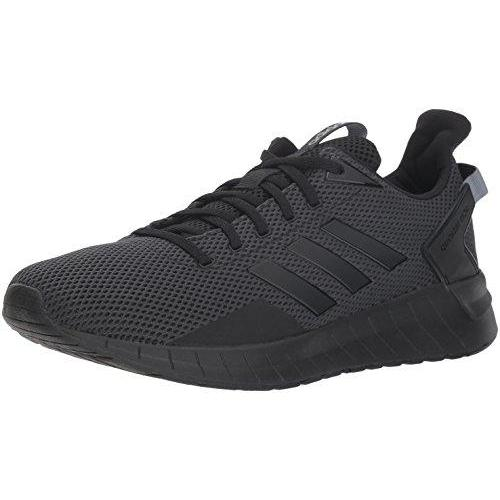 adidas Men's Questar Ride Running Shoe, Black/Black/Carbon, 7 M US Shoes for Men adidas
