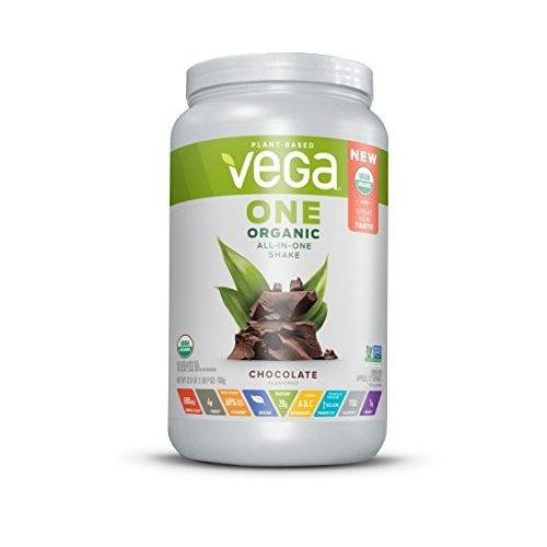 Organic All-in-One Shake, Chocolate, 17 Servings Supplement Vega