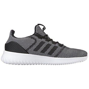 adidas Men's Cloudfoam Ultimate Running Shoe, Black/Black/White, 10 Medium US
