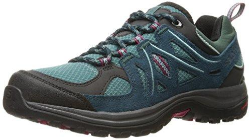 Salomon Women's Ellipse 2 AERO W Hiking Shoe, Artic/Reflecting Pond/Sangria, 8 M US