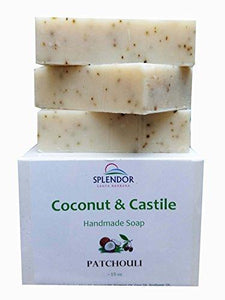 Patchouli Coconut Castile Soap with ORGANIC Shea butter. Handmade USA, Vegan, Natural, Moisturizing.