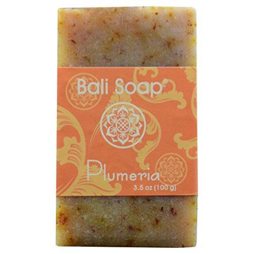 Bali Soap - Plumeria Natural Soap Bar, Face or Body Soap, Best for All Skin Types, For Women, Men & Teens, Pack of 3, 3.5 Oz each