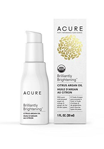 Acure Brilliantly Brightening Citrus Argan Oil, 1 Fluid Ounce (Packaging May Vary)