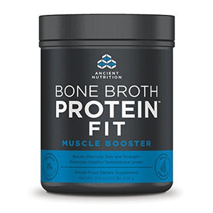 Ancient Nutrition Bone Broth Protein FIT Muscle Booster- Boosts Muscle Size and Strength (20 Servings)