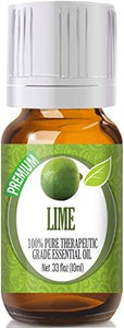 Lime 100% Pure, Best Therapeutic Grade Essential Oil - 10ml