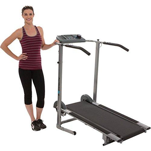Exerpeutic 100XL High Capacity Magnetic Resistance Manual Treadmill with Heart Pulse System Sport & Recreation Exerpeutic