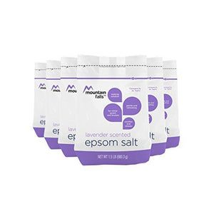 Mountain Falls Epsom Salt, Lavender Scented, Compare to Dr. Teal's, 1.5 Pound (Pack of 6)