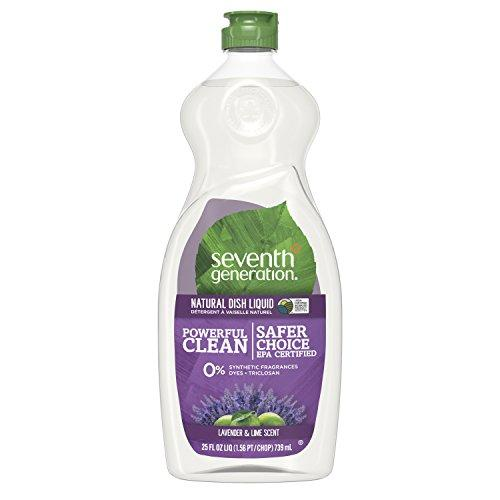 Seventh Generation Dish Liquid Soap, Lavender & Lime Scent, 25 oz, Pack of 6 (Packaging May Vary) Dish Soap Seventh Generation