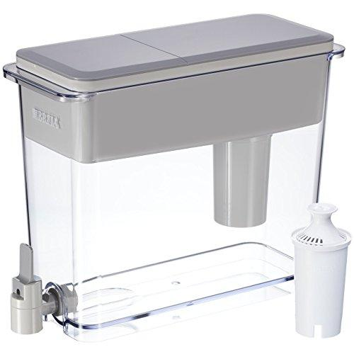 Brita Large 18 Cup UltraMax Water Dispenser and Filter - BPA Free - Gray Accessory Brita